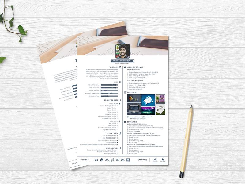 Profile Resume Template PSD
