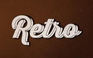 Free Retro Type Effect PSD