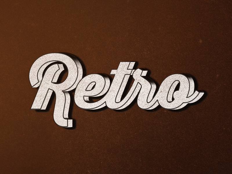 Retro Type Effect PSD