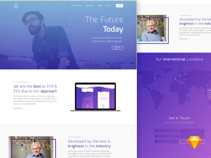 Free Simple Landing Page Sketch Template