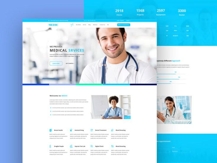 Medic : Free Medical PSD Web Template