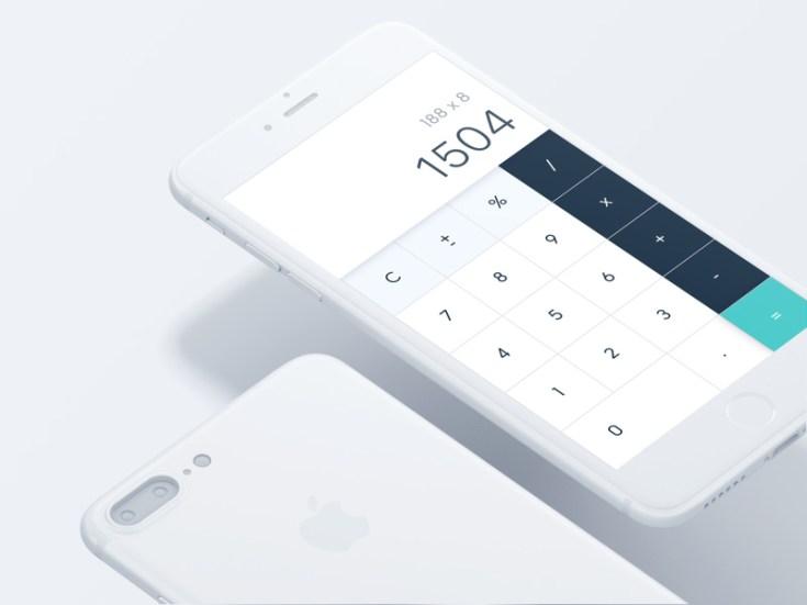 Free iPhone 7 Calculator UI Design