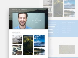 One Page : Free Resume PSD Web Template