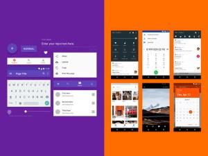 Free Android Nougat GUI Kit PSD