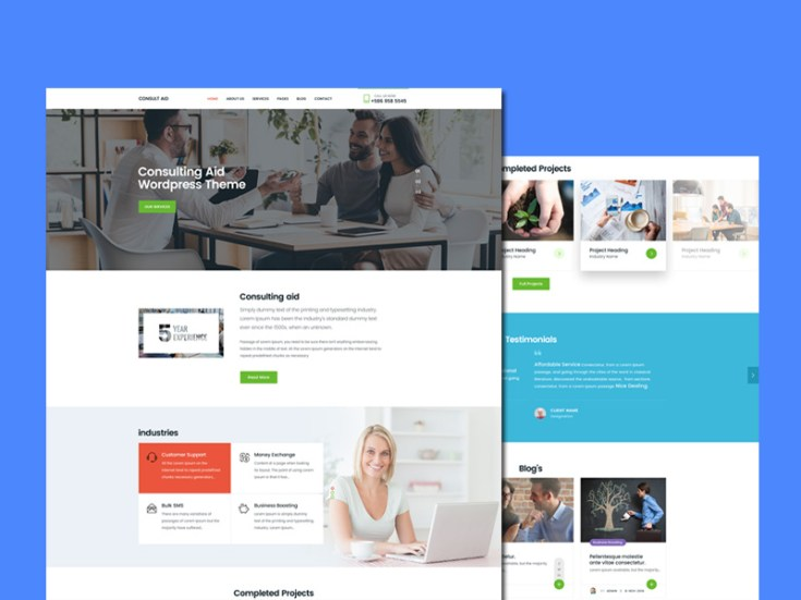 Consultancy PSD Website Template