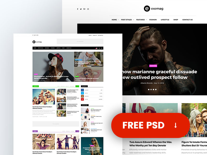 Exemag : Magazine Web Template