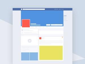 Facebook Profile Mockup PSD