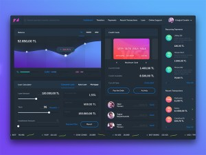 Free Finance Dashboard UI PSD