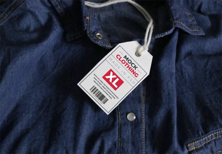 Free Clothing Tag Mockup Psd Free Download Freebiesjedi