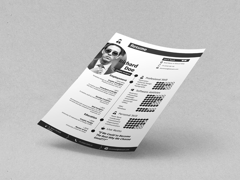 Free Cool Resume Template