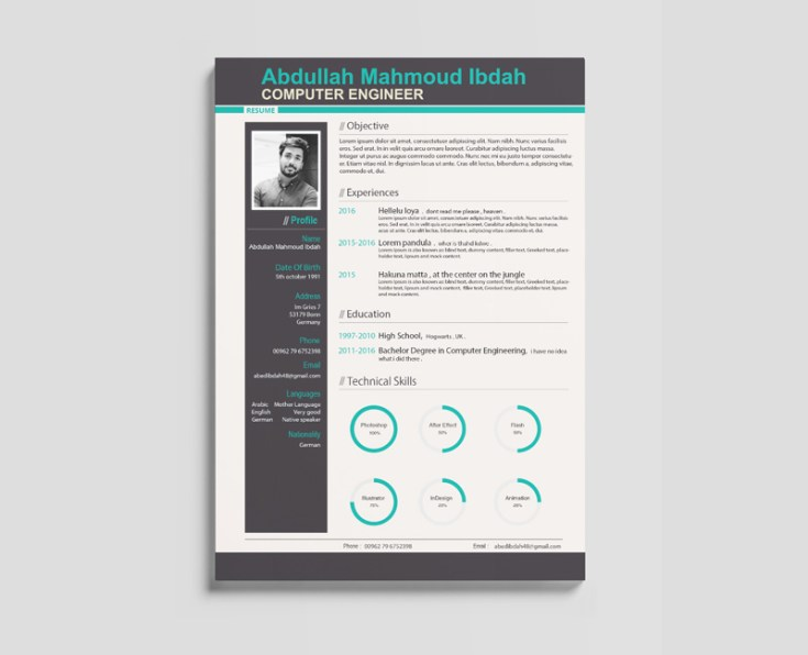 free engineer resume template