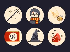 Free Harry Potters Icon Set