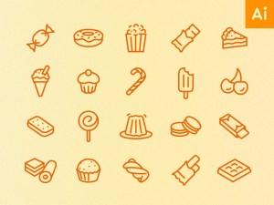 Free Minimal Food Icon Set