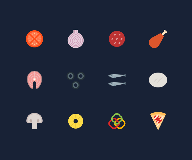 Free Pizza Icons