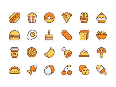 Illustrator Food Icon Set