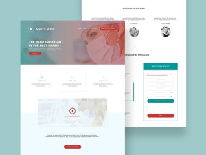 Medicare : Free Medical PSD Template