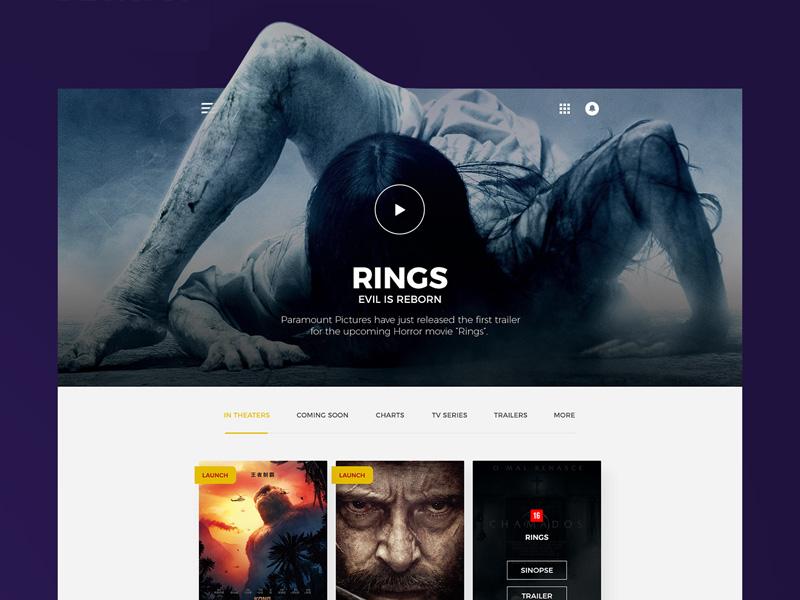 Movie PSD Web Template