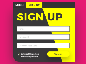 Sign Up Screen UI PSD