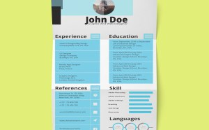 Free Stylish Resume Template with Cover Letter