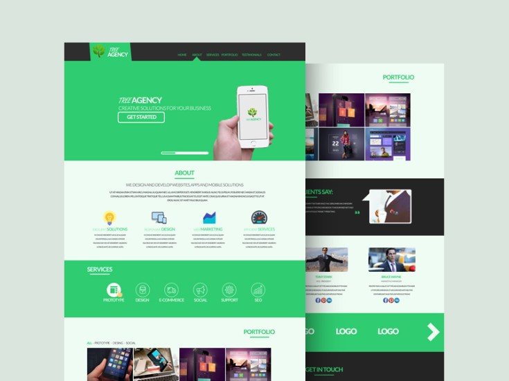 Tree Agency PSD Template