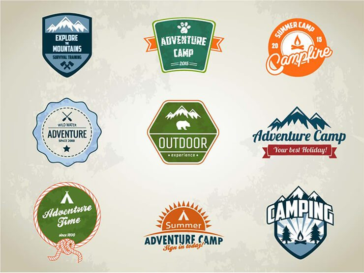 Vector Camping Badges