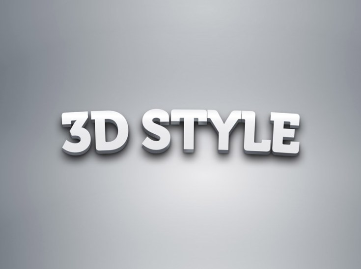 3D Text Effect Style