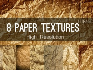 8 Free HD Crumpled Paper Textures
