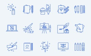 Art Icon Set Illustrator