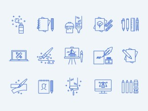 Art Icon Set Illustrator