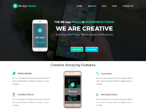 BB Mobile : Free App Landing Page Wordpress Theme