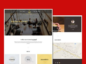 Free Coffee Shop Website Template