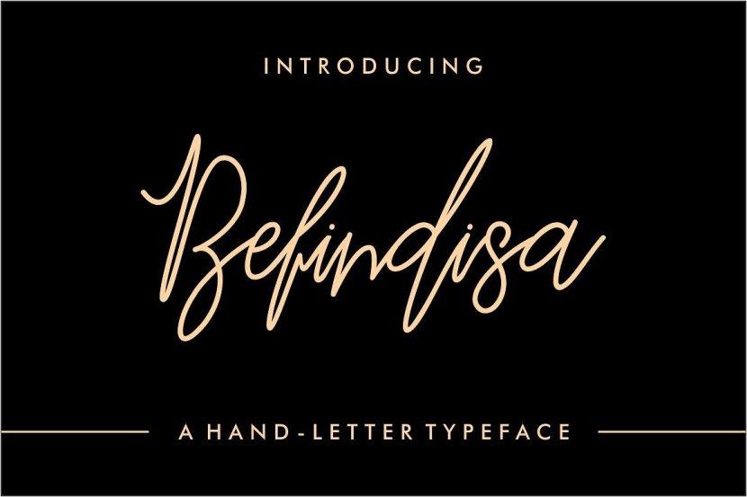 Befindisa Hand-Letter Font