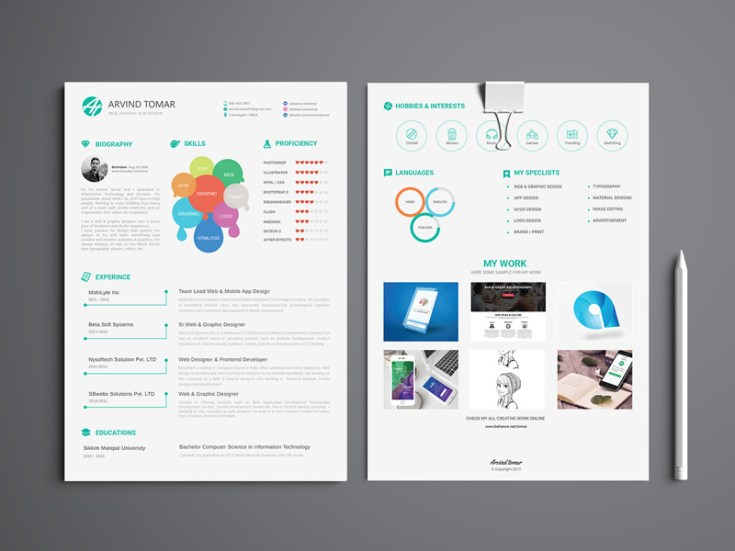 CV Resume Template (Illustrator)