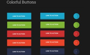 Colorful Buttons UI PSD