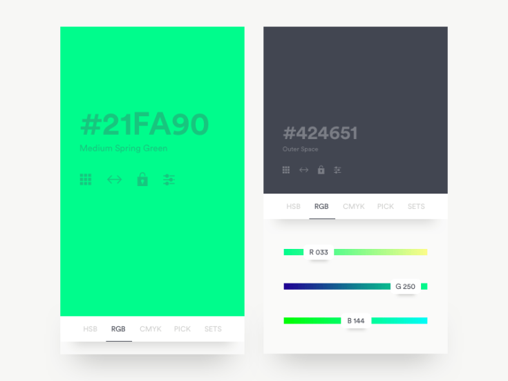 Colour Generator App UI Design