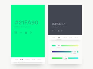 Colour Generator App UI Design