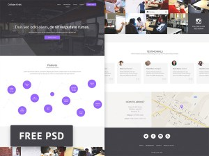 Free Coworking PSD Website Template