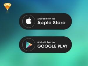 Download App Button Sketch