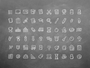 Free Hand Drawn Education Icons