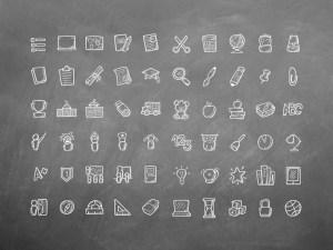 Free Hand Drawn Education Icons