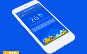 Flat Weather App UI Design