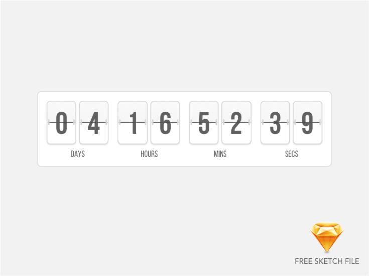 Free Flip Timer UI Sketch
