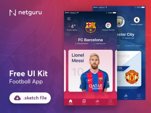 Free Football App UI Kit