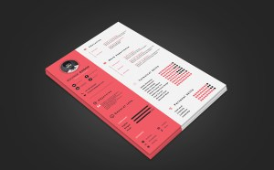 Free A4 Resume Template PSD
