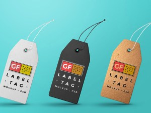 Free Clothing Label Tag Mockup