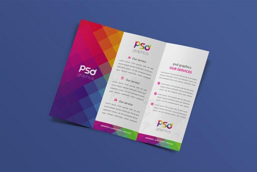 Free Elegant Trifold Brochure Mockup
