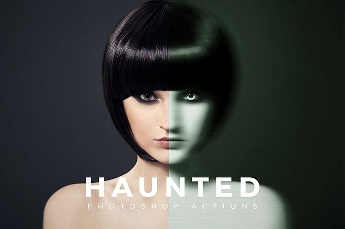 Free Haunted Photoshop Action