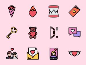 Free Love Icon Set