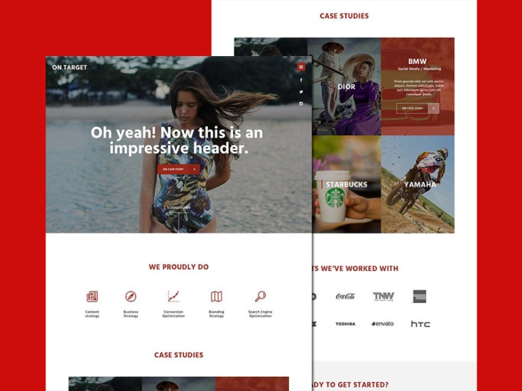 Free Marketing Agency Website template