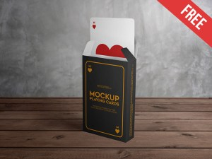 Free Playing Cards Mockup PSD